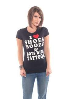 Cartel Ink I Love Shoes Booze Boys with Tattoos T Shirt