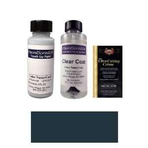 2 Oz. Dark Sapphire Blue Metallic Paint Bottle Kit for