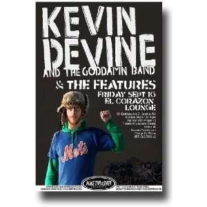 Kevin Devine Poster   Concert Flyer   Sea Sept 11