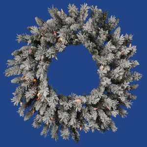 Vickerman 17949   24 Flk Sugar Pine Wreath Dura Lit 50MU (A100426) 24