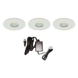 DALS 4001 WH (3)12V DC High Power LED Puck Kit White