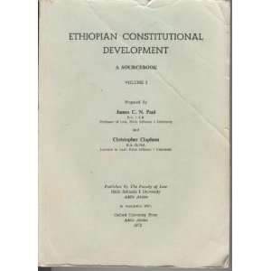 Ethiopian constitutional development;: A sourcebook