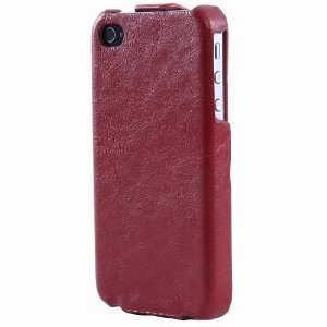 New Genuine Leather Flip Case Pouch Cover for Apple Iphone