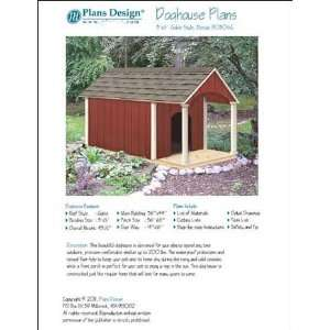 Porch Dog House Project Plans, Pet Size up to 150 lbs Design # 90305G
