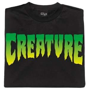 Creature Skateboards T Shirts Logo   Small   Black Sports