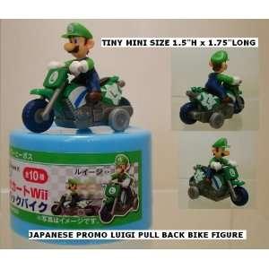 Super Mario Kart Figure Luigi Bike ( Japanese Promo Pull
