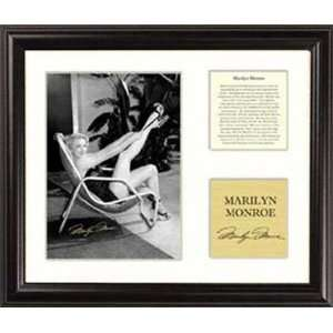Marilyn Monroe   Beach Chair   Framed 5 x 7 Photograph