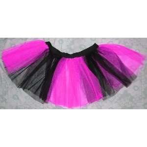 Uv Neon Hot Pink Tutu Skirt Petticoat Punk Rave Dance Fancy Dress