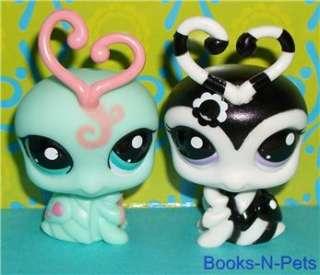 LPS LOVEBUG/LOVE BUG LOT~#1727 MINT & #2250 BLACK/WHITE~Littlest Pet
