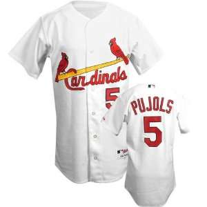 Albert Pujols White Majestic MLB Home Authentic St. Louis Cardinals