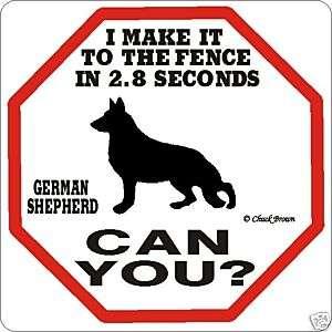 German Shepherd 2.8 Dog Sign Funny Warning Caution New