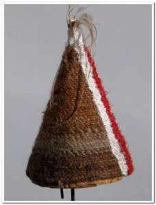 ABORIGINAL WOVEN HAIR DANCE HAT MORNINGTON ISLAND RARE