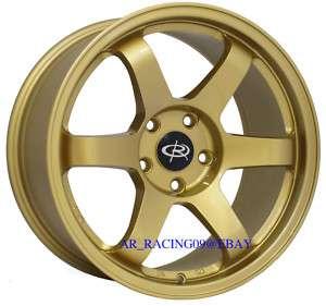 17 Rota Wheels 17x9 GRID Gold Legacy Golf Jetta TT WRX