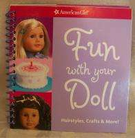 American Girl FUN WITH YOUR DOLL book craft cook MINT
