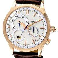 Citizen Eco Drive Mens Brown Leather Watch AP1046 02A