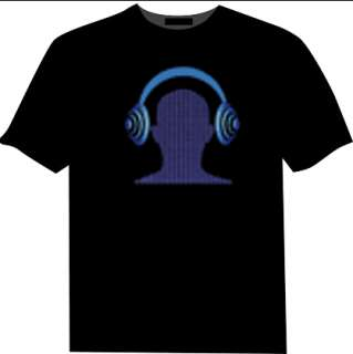 Sound Activated LED T Shirt Multiple Styles
