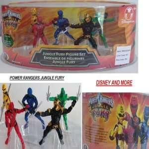 PLAY SET CAKE TOPPER 5PC Blue Ranger Red Ranger Yellow Ranger Villians