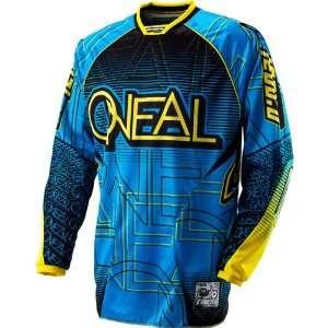 Mens MotoX/Off Road/Dirt Bike Motorcycle Jersey   Blue/Yellow / Large
