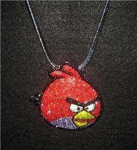 ICED OUT ANGRY BIRDS PIECE PENDANT CHAIN HIP HOP