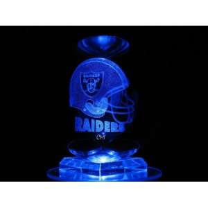 NFL Oakland Raiders 3D Laser Etched Crystal Ball 80mm FREE SHIPPING