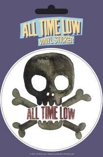 Vinyl sticker ALL TIME LOW SKULL ROCK MUSIC BAND ALEX GASKARTH