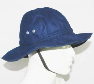 WOOL NAVY BLUE BOONIE HAT MILITARY STYLE L 3978