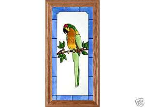 11x22 Stained Glass PARROT TROPICAL Wall Suncatcher