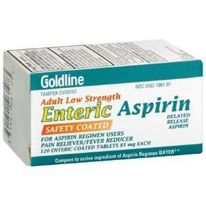 ASPIRIN ADULT LOW STR EC 81MG 120TB TEVA PHARMACEUTICALS