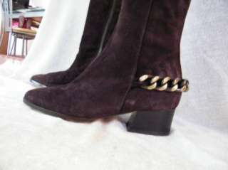 Michael Kors SHOES sandals HEELS BOOTS Brown suede 6.5 36.5