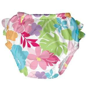iPlay Swim Diaper Girls Tropical Floral Pattern (Small 10