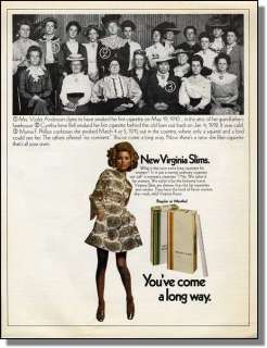1968 Youve come a long way  Virginia Slims Print Ad