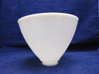 Vintage Milk Glass Light Lamp Shade Waffle Cone #414