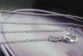 925 Sterling Silver Plated Diamond Cut Necklace JN155