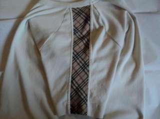 Burberry London Womans T Tee Shirt Nova Check Beige M