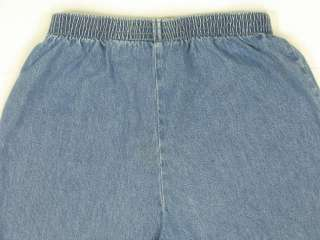 Cabin Creek Tapered Leg Petite Short Jeans Womens Size 8 PS Blue 100%
