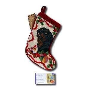 Dog Stocking Needle Point Christmas Xmas Animal Seasonal Puppy Sk 787s