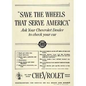 Ad Chevrolet Dealer Wheel America Car Motor Tires   Original Print Ad
