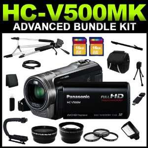 Panasonic HC V500MK Black 1/5.8 MOS 3.0 LCD 38X Optical Zoom Full HD