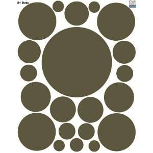 Brown Wall Sticker Dots (21) Polka Dot Wall Decal