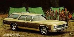 1973 CHEVROLET CAPRICE ~ ESTATE WAGON & SCOUT TROOP