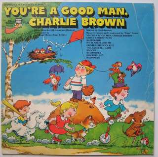 PEANUTS 1974 LP YOURE A GOOD MAN CHARLIE BROWN SONGS