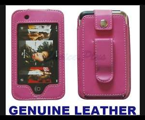 IPOD TOUCH 1ST GENERATION 1G PINK GENUINE LEATHER CASE