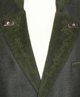 GREEN ~ WOOL Men LODEN German Hunting Western Sport Dinner Suit JACKET