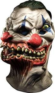 Mens Halloween Scary Siamese Two Headed Clown Full Mask 082686682619