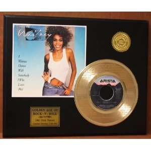 Whitney Houston Laser Etched 24kt Gold Record I Wanna Dance