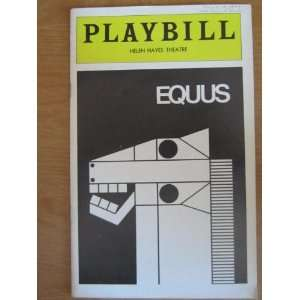 Playbill Helen Hayes Theatre Equus Books