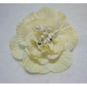 NEW Ivory Camellia Flower Hair Clip and Pin Back Brooch
