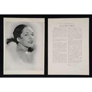 1930 Lupe Voulez Actor Movie Silent Film Star Print   Original Print