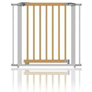 Clippasafe Extendable Swing Shut Gate  Silver Metal & Wood 72.5   95cm
