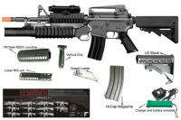 M4 w/M203 AEG Full & Simi Auto Electric Airsoft Assault Rifle